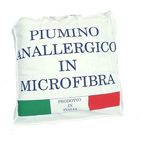 Piumino anallergico Kyra in microfibra con retro agnellato Matrimoniale N890