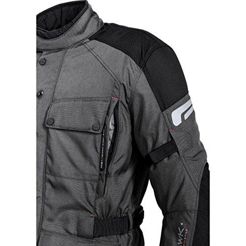Motorradjacke Mohawk Touren Textiljacke 1.0 Anthrazit/Schwarz