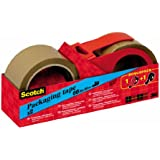 Scotch C5066R2D - Pack de 3 cintas embalaje con portarrollos, 50 x 66m