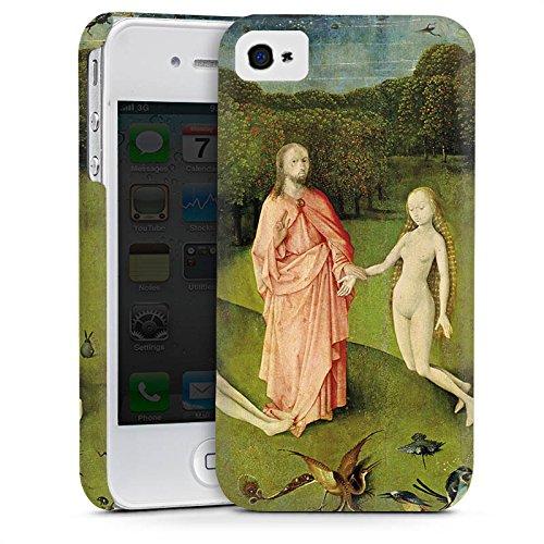 Apple iPhone 5 Housse Étui Silicone Coque Protection Le jardin d'Eden Adam et Ève Art Cas Premium mat