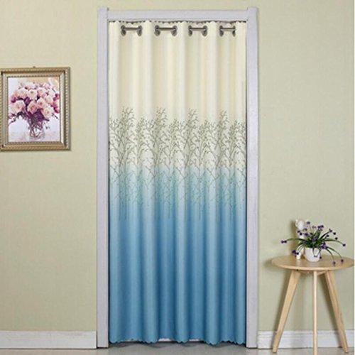 Liuyu · Lebendes Haus Tür Vorhang Schlafzimmer vier Jahreszeiten Badezimmer Garderobe abgeschnitten ( Farbe : Blau , größe : W100-150*L190cm )