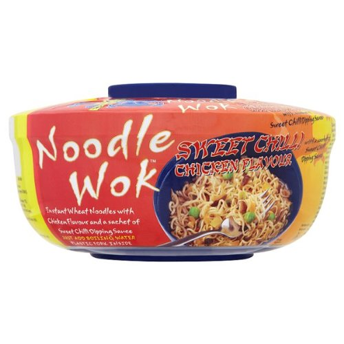 Blue Dragon Noodle Wok dolce Chilli Chicken Sapore 6 x 76g