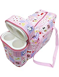 EIO® Multi Purpose Baby Diaper Mother Bag With 2 Bottle Holders - Keep Baby Bottles Warm (Pink)