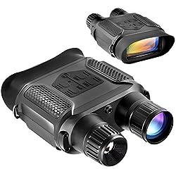 SOLOMARK Jumelle Vision Nocturne Infrarouge Numérique Appareil Photo Caméscope Vidéo HD 1280x720p, Oculaire Réglable 7x Grossissement dans l'Obscurité