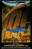 Blechschild Deutsche Eisenbahnen Ausstellung Nürnberg 1935 Schild Nostalgieschild