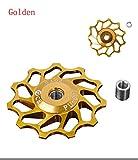 Fygrend 11T CNC-Aluminiumlegierung Rad f¨¹r Shimano & Sram XX, XO, X9, X7 hinten Mech Umwerfer, Keramik Bearing CCD002 [Golden]