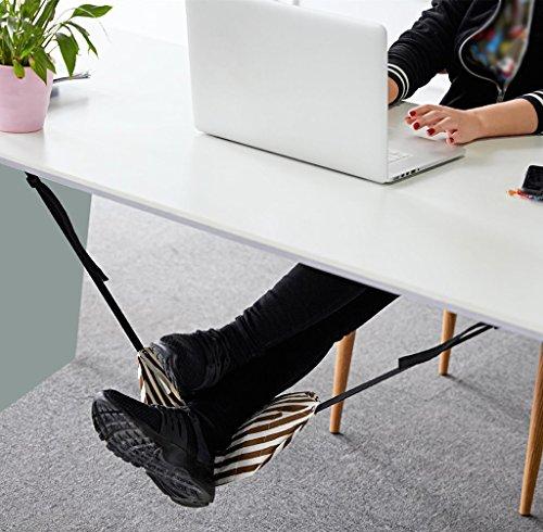 Lh$Yu Fuß-Hängematten-Rest, Büro-Ausgangsschreibtisch-Fuß-Leg-Rest-Ruhe-Justierbare Tragbare Fußrasten Entlasten Ermüdungs-Arbeits-Tabelle Mini, Der Sich Entspannt