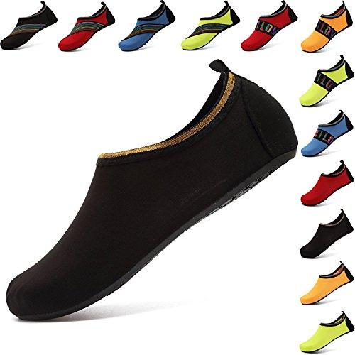 AGOLOD Aquaschuhe Wasserschuhe, Weiche schnelltrockene Rutschfeste Schwimmschuhe geeignet für Tauchen Schnorcheln Schwimmen, Yoga Schuhe für Damen & Herren, Erwachsene & Kinder