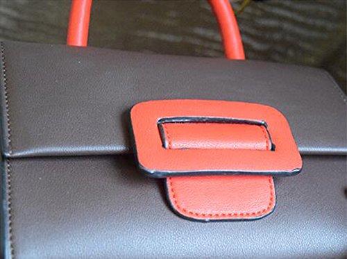 Tasche Tasche quadratische einfachen Handtasche Mini Frühling Farbe tragbare kleine Farbe Sommer Version koreanische Khaki und Schultertasche der Hit Schwarz zx6wvRq