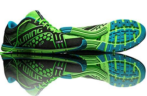 SALMING Race Scarpa da Running Uomo, Verde, 41.5