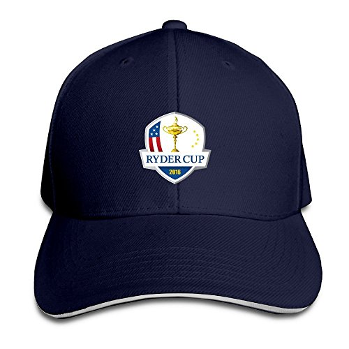 Hittings Unisex Ryder Cup Adjustable Snapback Sandwich Bill Cap Baseball Cap - Black Navy