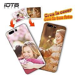 Idea Regalo - IDTB SKINS Custodia Cover Ultra Sottile TPU Trasparente Personalizzata con la Tua Foto, Immagine Stampa di qualità Fotografica per Huawei Honor (P Smart)