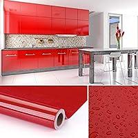 KINLO Vinilo Pegatina Muebles de Cocina, PVC Engomada Autoadhesivo Protege  o Decora Armario y Aparatos Eléctricos, Papel Pintado para ...