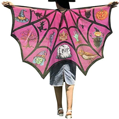 Baby Kostüm Ork - WOZOW Damen Schmetterling Kostüm Fasching Schals Nymphe Pixie Poncho Umhang für Party Cosplay Karneval Fasching (Heißes Rosa)