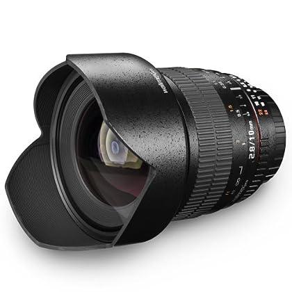 Walimex pro Black - Objetivo para Canon (apertura f 2.8-22), negro