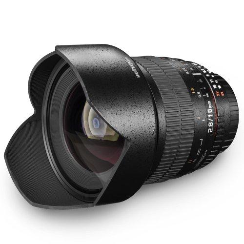 Walimex Pro 10 mm 1:2.8 DSLR-Weitwinkelobjektiv (manueller Fokus, IF, ED-Linse) für Canon EOS EF Objektivbajonett schwarz