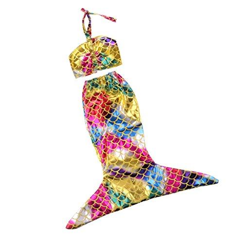 MagiDeal Buntes Puppe Meerjungfrau Kleid & Top Badeanzug Badebekleidung Für 18