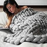 HLHN Kuscheldecke Acrylfasern Weich und Flauschig Super-Chunky Yarn Handgewebt Kuscheldecke / Sofadecke /Wolldecke / Tag