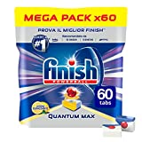 Finish Pastiglie Lavastoviglie Quantum Max, Limone, 60 Tabs