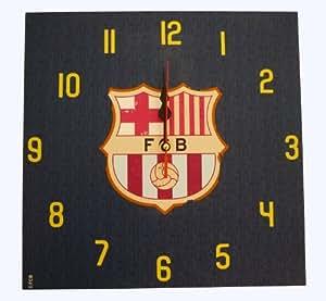 """Horloge Pendule Murale 30cm x 30cm Officielle du FC Barcelone """"style antique millésime"""" – Marchandise officielle du FC Barcelone avec griffe"""