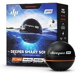 Deeper PRO Sondeur Portable - Sondeur pour Kayak ou Float Tube sans fil Wi-Fi