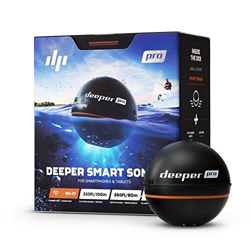 Deeper PRO smart Fischfinder - W-LAN Fischfinder für Kajak- und Belly Boot Angler Frequenz-sonar-fishfinder