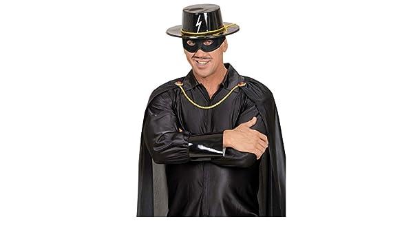 Zorro Hut Zorrohut Spanierhut Banditenhut Kostüm Zubehör Bandit schwarz