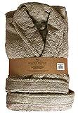 Aquanatura - Peignoir en coton Bio, coloris sable, Taille XL