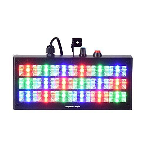 Eyourlife Bühnenbeleuchtung Discolicht Bühnenlicht Stroboskop sprachaktivierte RGB LED Blitzbühnenbeleuchtung für Disco Partei DJ Club Bar 18 LEDs 60W -EU Stecker