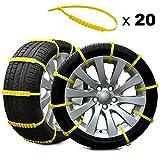 Rupse Catene da neve di emergenza universali utilizzate per pneumatici da 145 mm-265 mm, 20 pezzi, plastica morbida adatta per pneumatici, 45 55 60 65 R13 R14 R15 R16 R17 R18
