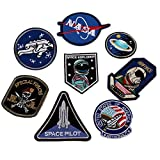 #8: Fancyku Embroidered Patches Iron on Patch Sew on Patch Sticker Applique Badge for Arts Crafts DIY Decor 8 Pcs
