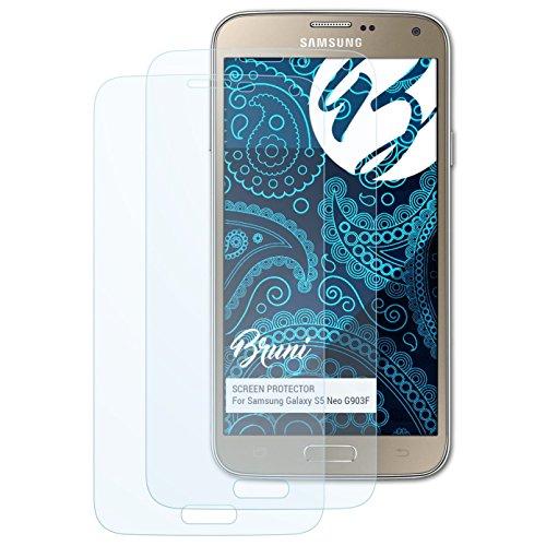 Bruni Schutzfolie kompatibel mit Samsung Galaxy S5 Neo G903F Folie, glasklare Displayschutzfolie (2X) (Samsung Galaxy S Ii 4g)