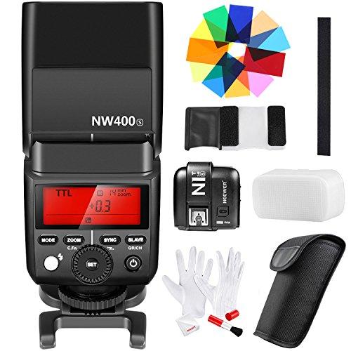 Neewer 2,4 G Drahtlos 1/8000s HSS TTL GN36 Master/Slave Blitzlicht mit n1t-s Trigger Farbe Filter Reinigungsset für Sony A7 A7R A7S a7II A7RII A7SII A6000 A6300 A6500 A58 A99 Kameras(nw400s)