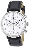 Zeppelin 70861 - Reloj analógico de cuarzo para hombre con correa de piel, color negro de Zeppelin