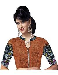6833b99226cb3 Javuli Women s Cotton Saree Blouse (Kalamkari-Blouse-B289 Multicolor Free  Size)