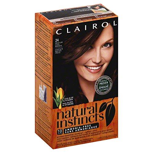 Clairol Colorant capillaire Natural Instincts - Couleur 24 Clove (Châtain moyen froid)
