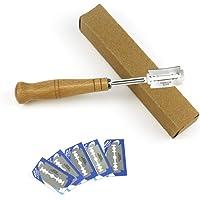 SANTITY 304 acier inoxydable européen pain arc couteau tranchant professionnel couteau à pain en bois avec 5pcs lames de…
