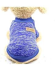 MySheru Dog Sweaters, Warm Clothes, Soft and Warm Cloth for Cat Sky Blue - L