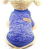 MySheru Dog Sweaters, Warm Clothes, Soft and Warm Cloth for Cat Sky Blue - XL