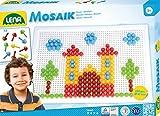 Lena 35608 - Bastelset Steck - Mosaik Set Color mit 200 Steckern 10 mm und Steckplatte 28 x 19,5 cm