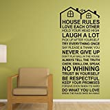 """Adesivi da Parete """"Regole della casa wallflexi porta carte rimovibile adesivi decalcomanie arte salotto cucina mobili arredamento decorazione per la casa, ristoranti, hotel, Multicolore"""