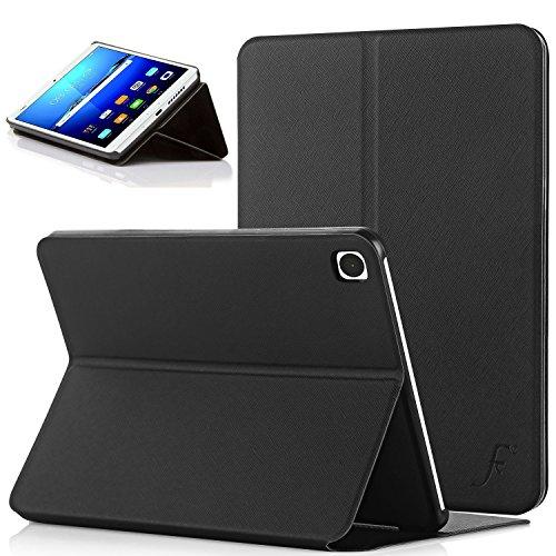 Forefront Cases® Huawei MediaPad M3 8.4 Leder Hülle Schutzhülle Tasche Smart Case Cover Stand - Rundum-Geräteschutz und intelligente Auto Schlaf / Wach Funktion (Clam Shell Tasche)