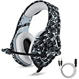 PS4 Gaming Headset With Mic For PC Mac Laptop New Xbox One Nintendo DS PSP Surround Stereo Sound Noise Reduction One Key Mute Gaming Volume Control Omnidirectional Microphone Gamer ( Camouflage ) {ONIKUMA The No. 1 Best Seller In USA Now In India}