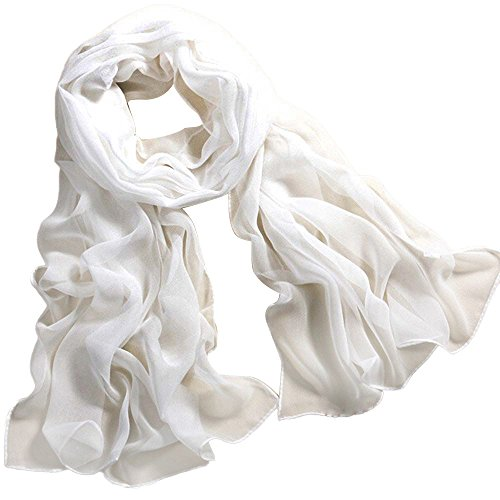 OverDose Damen Qualität Weiße Federboa Flapper Hen Night Burlesque Bar Dance Party Zeigen Mode Kostüm Langen Schal (160 * 50CM, ()