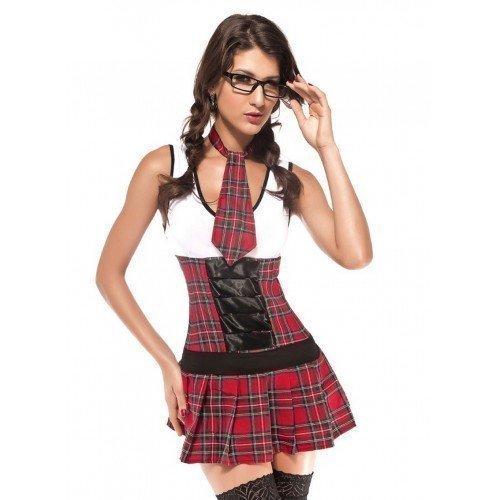 hulmädchen St Trinians Klasse - Rot, 12 UK (Mini Me Kostüm Uk)
