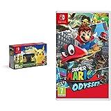Nintendo Switch: Consola edición Pokémon + Let's Go Pikachu (Preinstalado) + Poké Ball Plus (Edición limitada) & Super Mario Odyssey