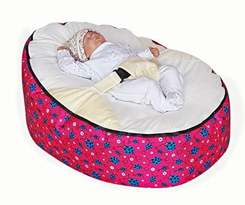 , Eulen Baby Sitzsack mit verstellbarem Sicherheitsgeschirr & 2abnehmbare Bezüge