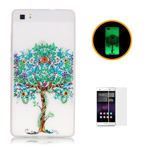 casehome-huawei-p8-lite-luminoso-custodia-con-gratuito-hd-proteggi-schermo-effetto-verde-night-glow-