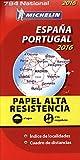 Carte Espagne, Portugal Indéchirable 2016 Michelin