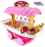 #10: Kids Choice Ice Cream Sweet Kitchen Cart with Lights and Music Role Play Set Toys (Big)